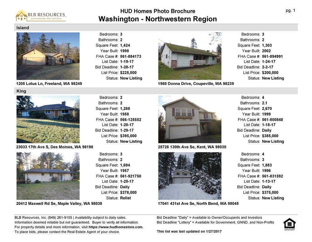 Sample: HUD Photo List Brochure