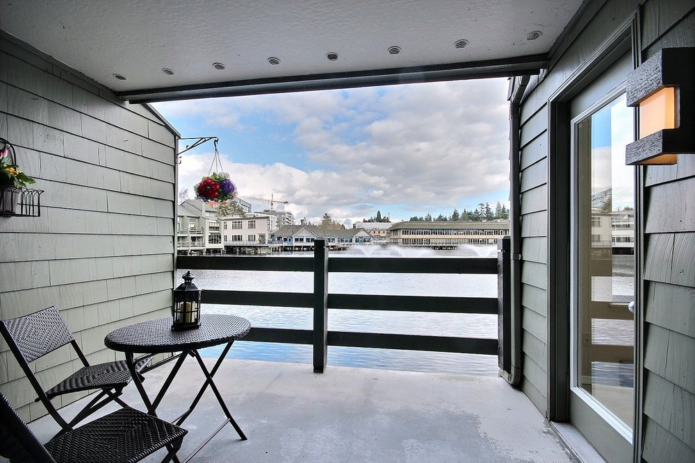 Serene two bedroom condo for sale on Lake Bellevue.