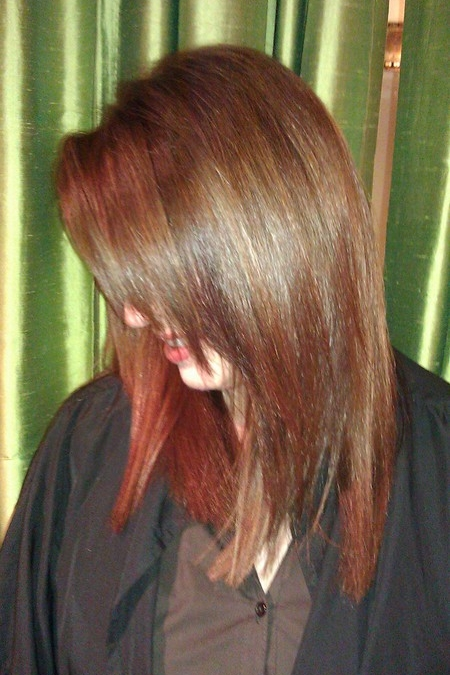 A truly balance back to natural, believable brown. Beautiful!
