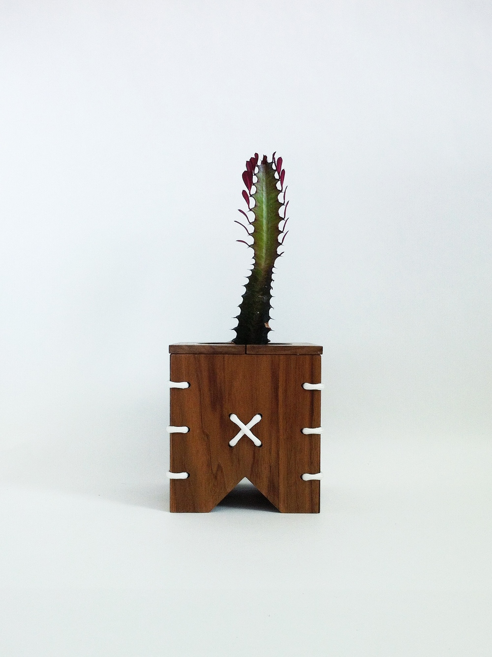 Cinch Walnut Wooden Planter