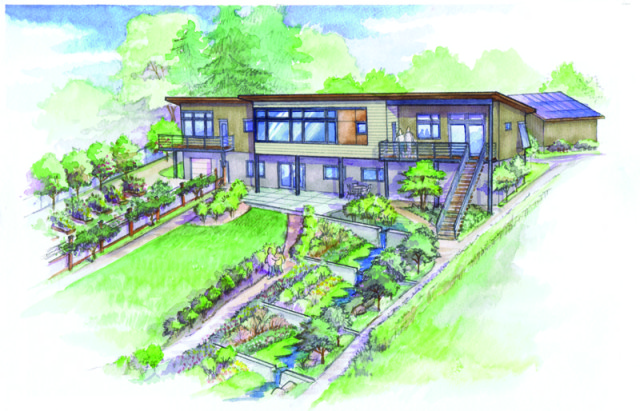 rendering of garden side