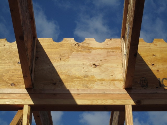 joists plumb over studs