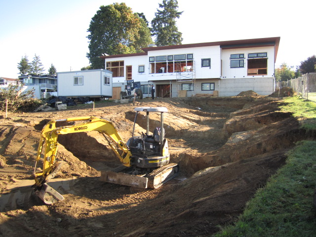 rain garden excavation