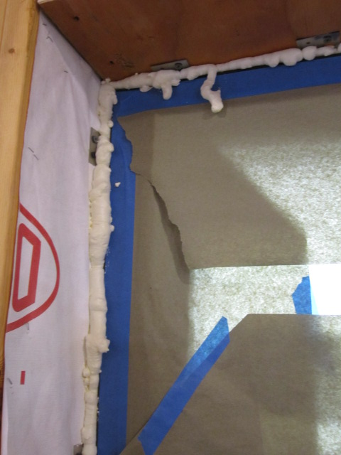 spray foam to seal air gaps