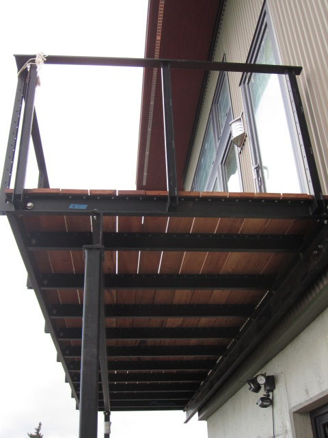 powder coated steel deck framing