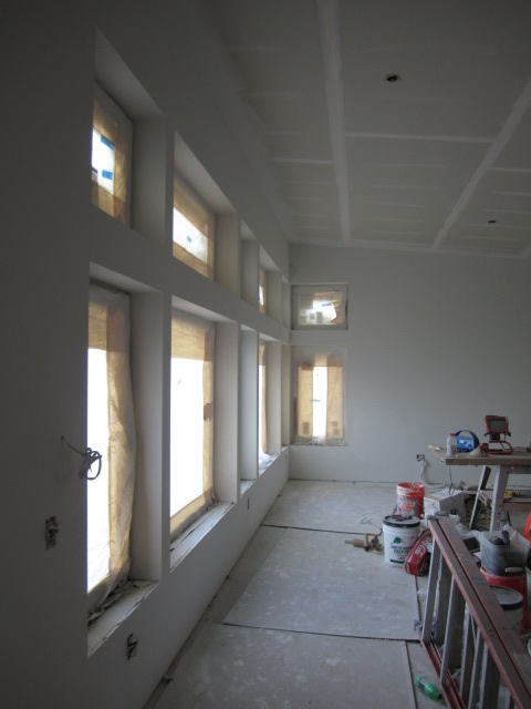 gypsum board mudding and sanding