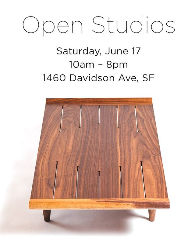 Open Studios this Saturday June 17  with some amazing local makers @huntprojects