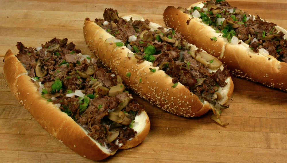 Steak Sub with Mushroom, Onion, and Green Pepper