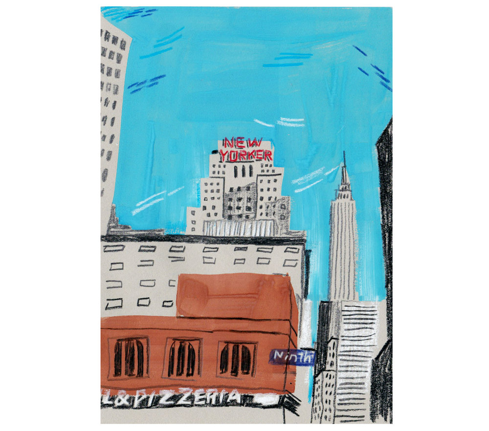 Experiments in gouache: West 34th and 9th.
