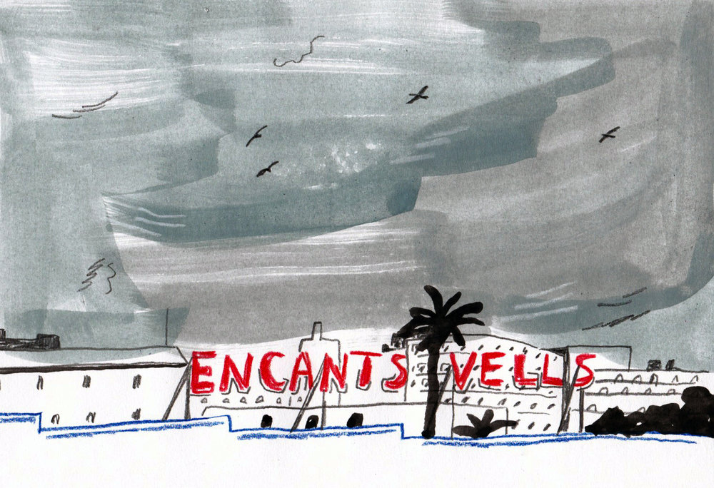 Encants Vells flea market in Barcelona, Spain.