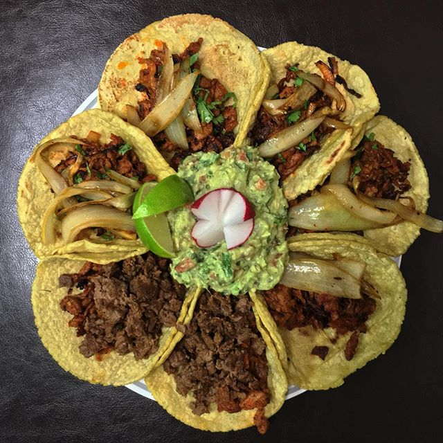 Happy NYE from our tacos to you!  #food #foodie #foodporn #foodgasm #nom #nomnom #hungry #instafood #taco #tacos #mexicanfood #boyleheights #eastlosangeles #eastla #catering #tortillas #eastsidetacos #discoverLA #tacolife #NYE #newyear #LA #LosAngeles