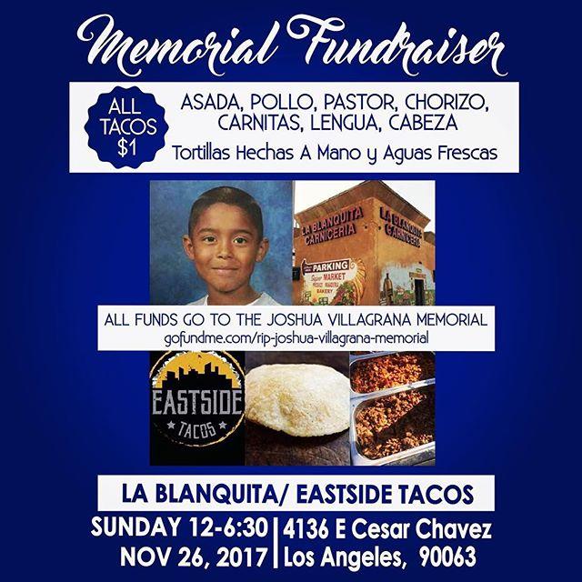 $1 Taco 🌮 memorial fundraiser  #food #foodie #foodporn #foodgasm #nom #nomnom #hungry #instafood #taco #tacos #mexicanfood #boyleheights #eastlosangeles #eastla #catering #tortillas #eastsidetacos #discoverLA #tacolife