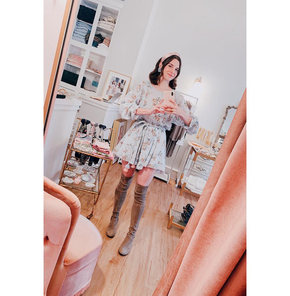 LoveShackFancy Blue Dress Selfie.jpg