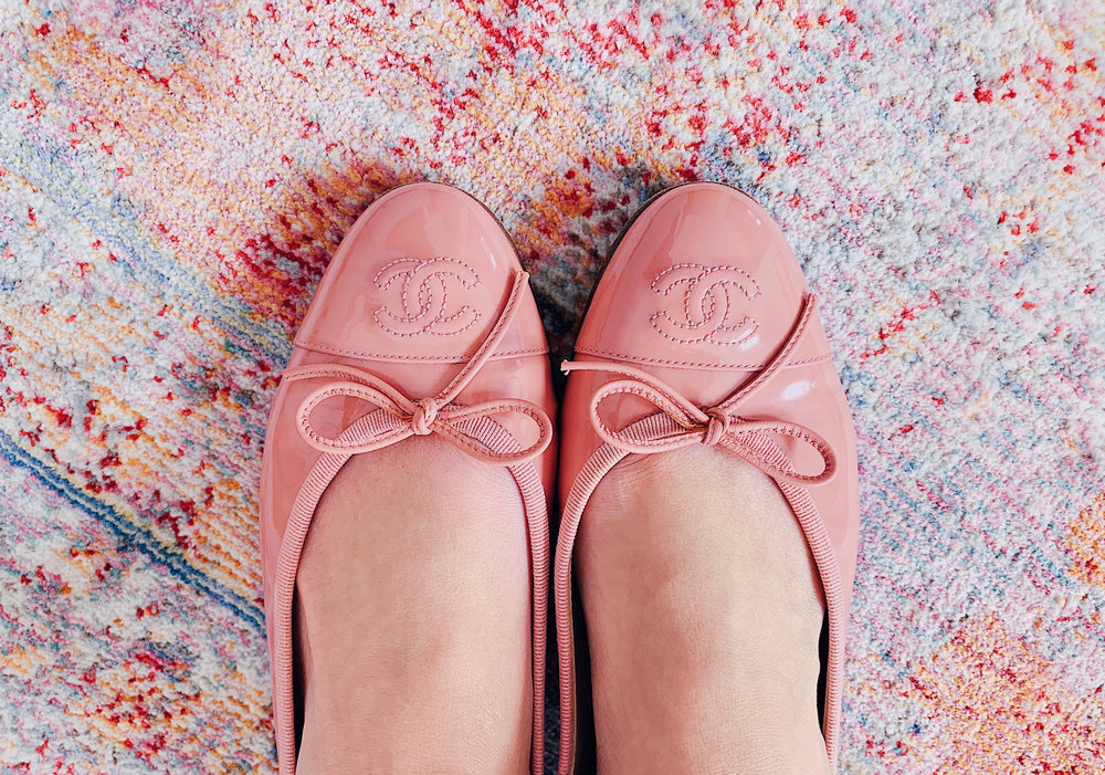 Chanel Coral Patent Leather Ballet Flats.jpg