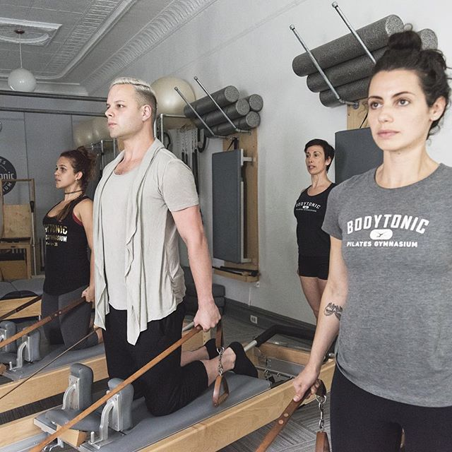 Chest Expansion! I'm infinitely fortunate to work, teach, and learn amongst such brilliant fellow teachers. Strong, smart, fun, hot, badass #Pilates rockstars! #Contrology #ClassicalPilates #AuthenticPilates #Gratz