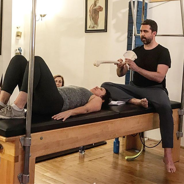 Cara Reeser and Jeremy Laverdure shared their brilliant and demystifying protocols for the pelvic complex last weekend in Movement Science Made Simple: Separate But Connected at my old studio, Sixth Street Pilates. I leap at any chance I get to learn from these two brilliant, wacky masters. Much fun was had and my oh my how my ass is sore. #Pilates #Contrology #NewContrology #MovementScience #Butts  http://movementsciencemadesimple.com/category/courses/