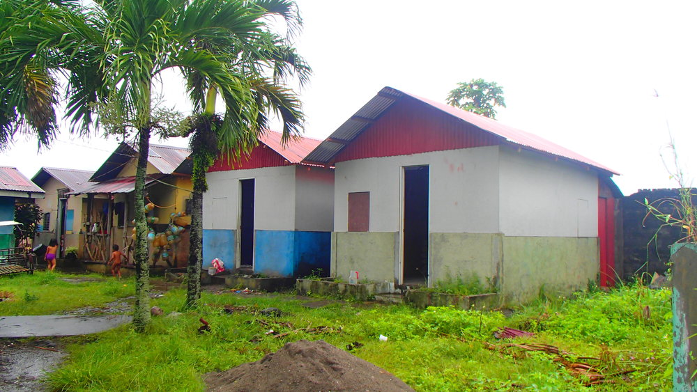 The reconstructed houses after Typhoon Yolanda