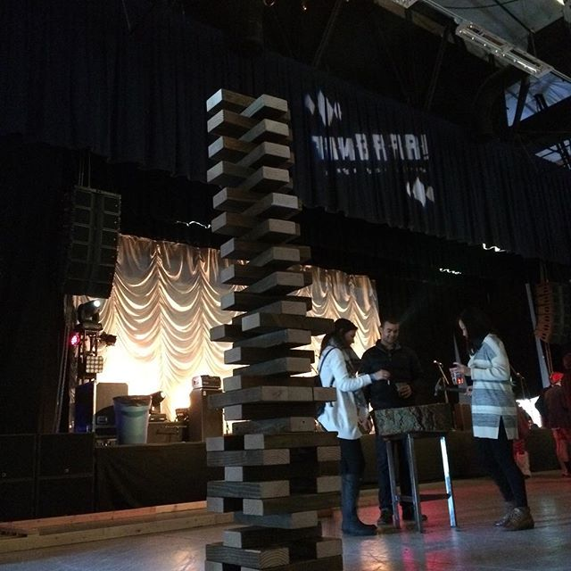 Flashback to last Saturday at #timbrrr2016. #giantjenga #leisuregames @timberfest