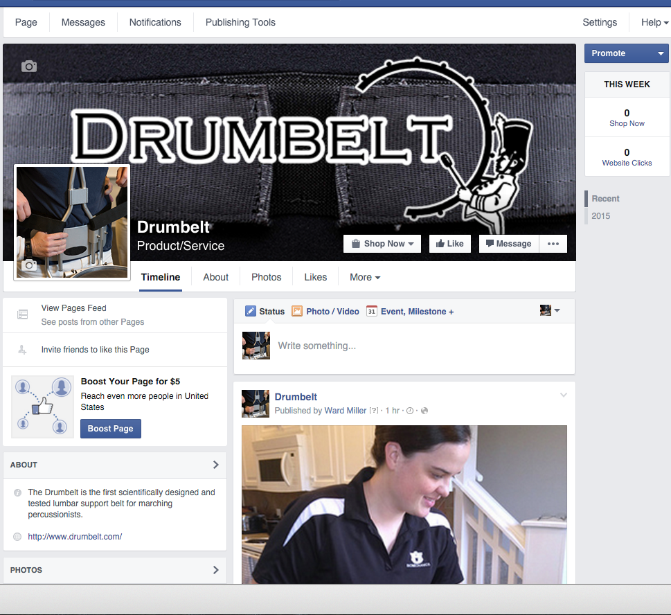 The new FaceBook page for Drumbelt is live!