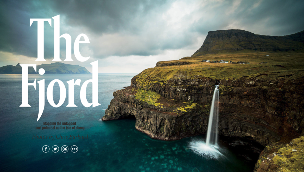 The Fjord, a SURFER Magazine digital feature. Photos by Chris Burkard