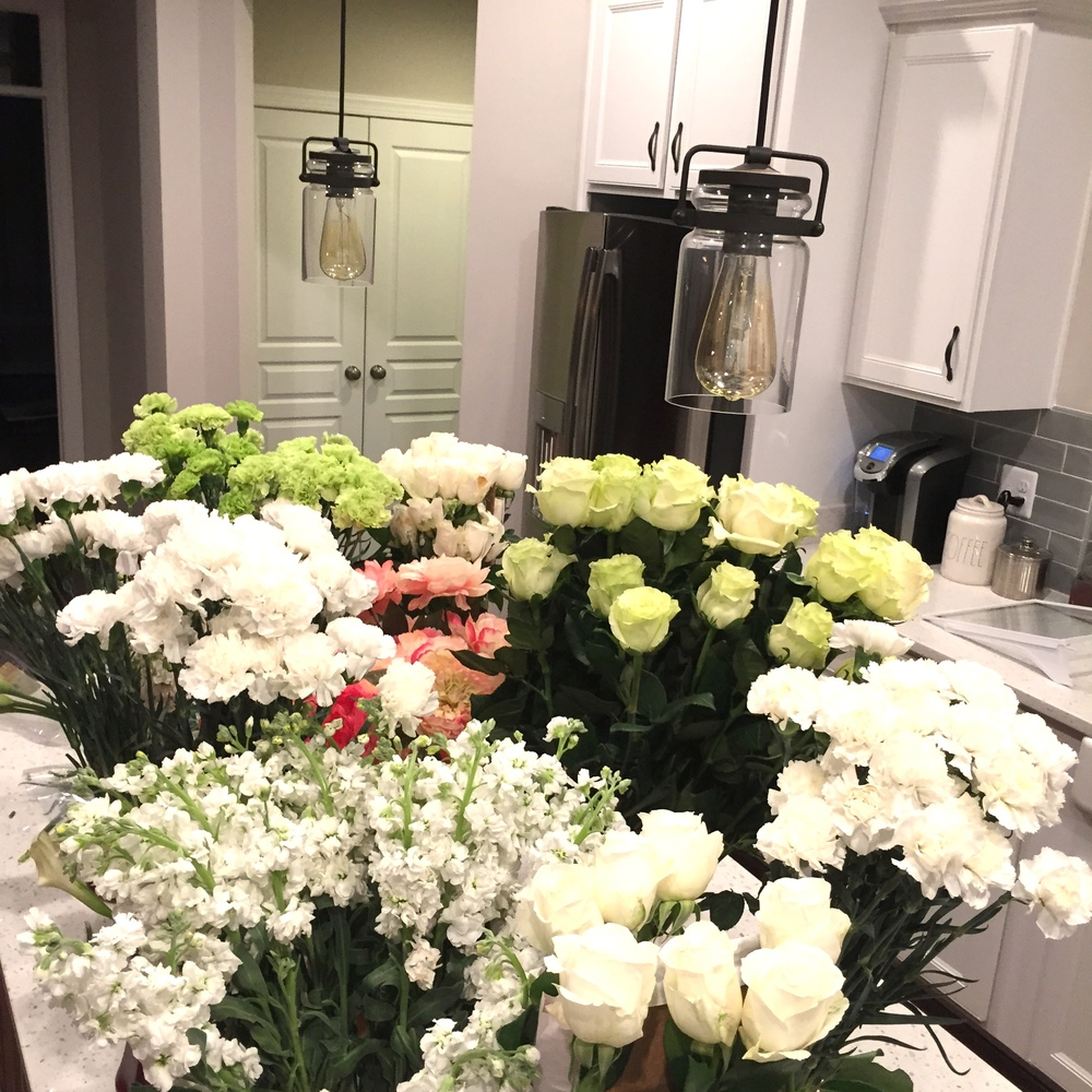 plus...I love my house looking an smelling like a flower market!