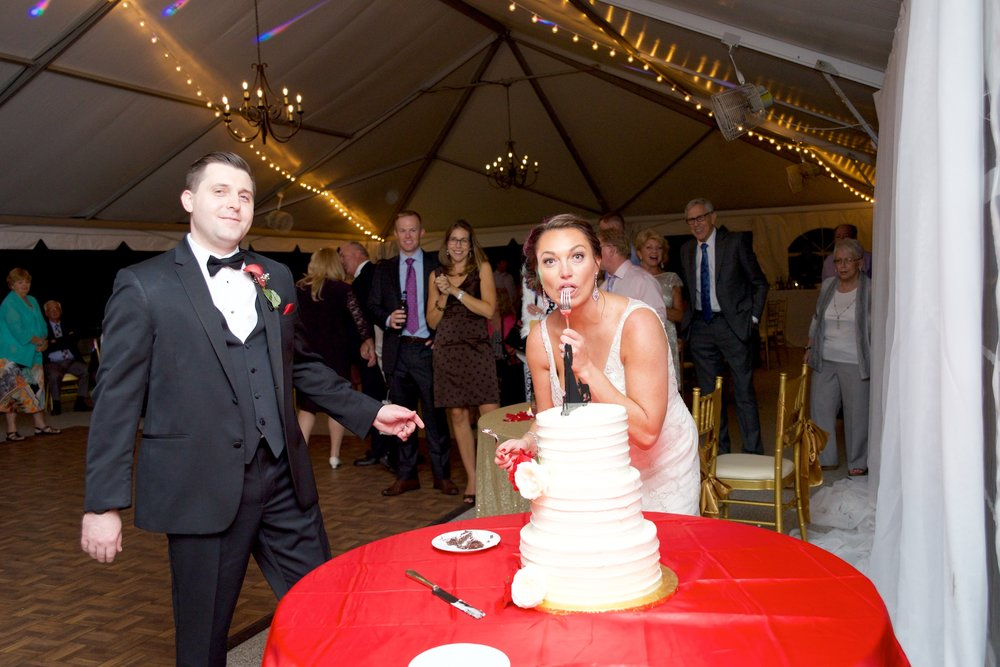 bride-groom-wedding cake-goofy bride-photos.jpg