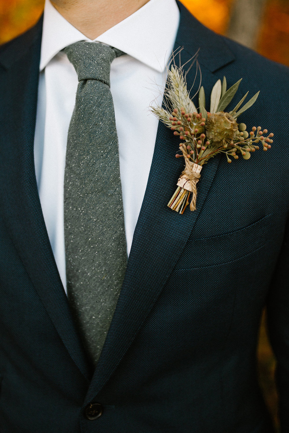mens fall boutonniere sharp guys suit groom attire.jpg