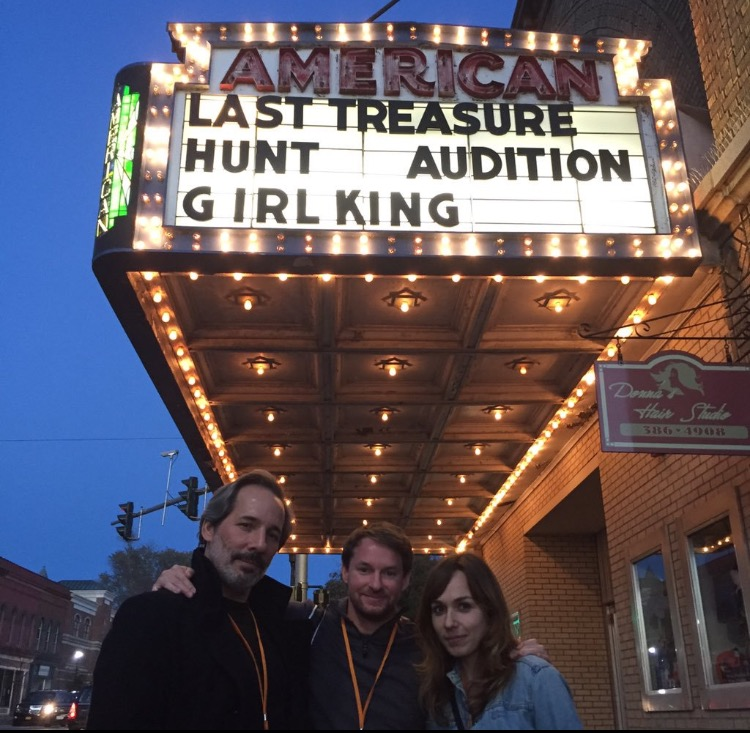 Actors/writers Casey Nelson and Kate Murdoch with fellow filmmaker Matt Heron (dir. Audition) at the St Lawrence Film Festival in October.