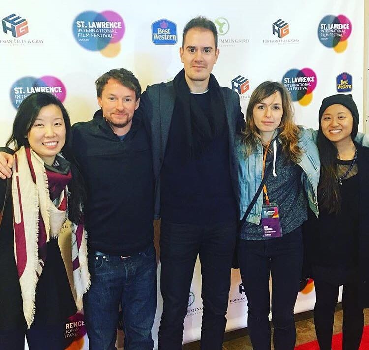 Director Patrick Biesemans with actor/writers Kate Murdoch and Casey Nelson and Production Designers Charmaine Choi and Annie Lim.