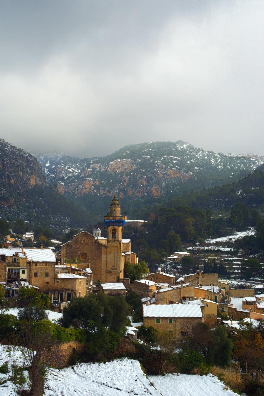Esglesia de Sant Bartomeu at Valldemossa, Mallorca Spain.