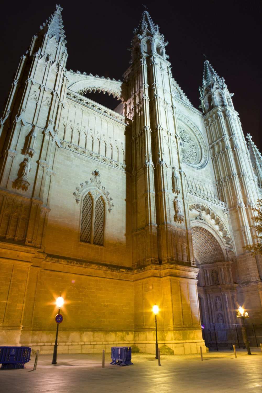 Front of Cathedral of Santa Maria of Palma, Mallorca Spain.