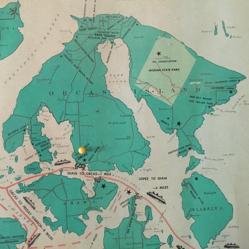 Map copyright 1960 C.T. Morgan, San Juan Industries