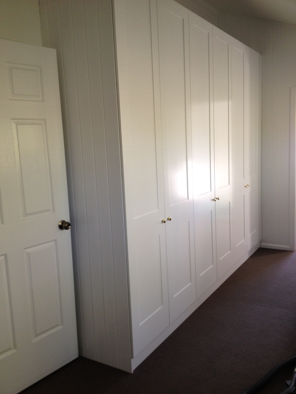 Built In Wardrobes with Shaker style hinged doors