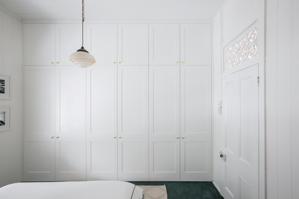 Built in robe with Shaker style recessed doors