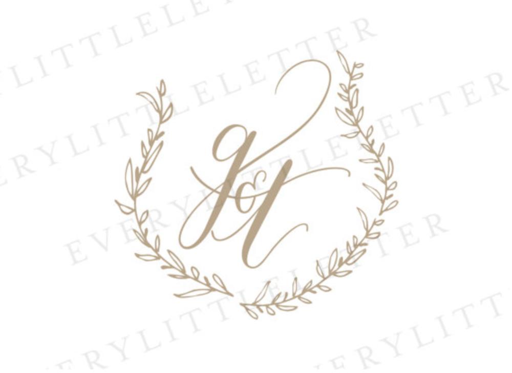 Custom Crest, Handlettered by Every Little Letter - 10x10 album ... $14012x12 album ... $170