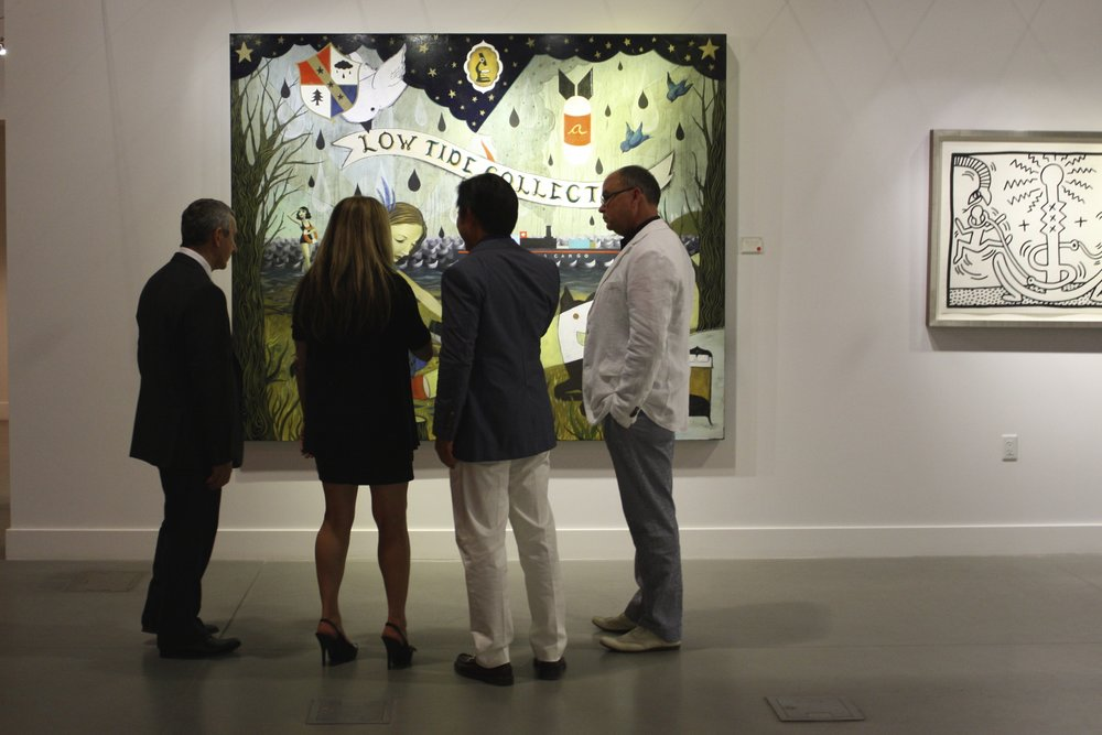Paintings by Anne Faith Nicholls, and Keith Harring at Martin Lawrence Galleries, Las Vegas, Nevada.