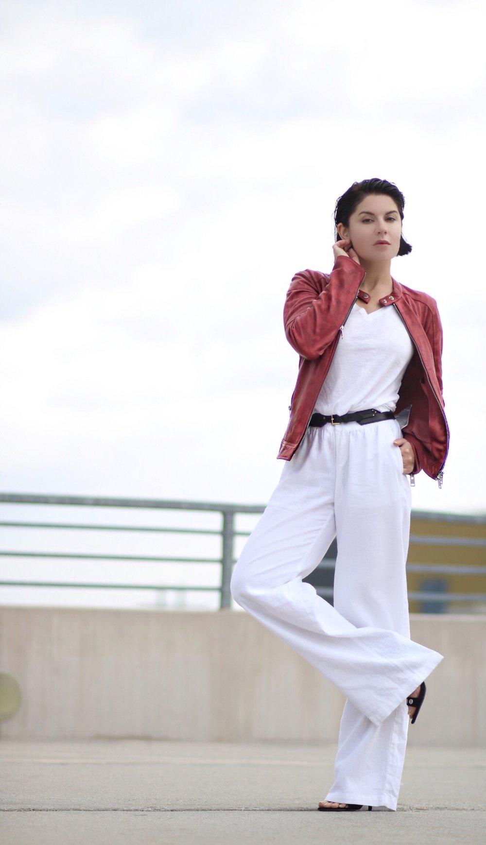 white-pants-leather-jacket