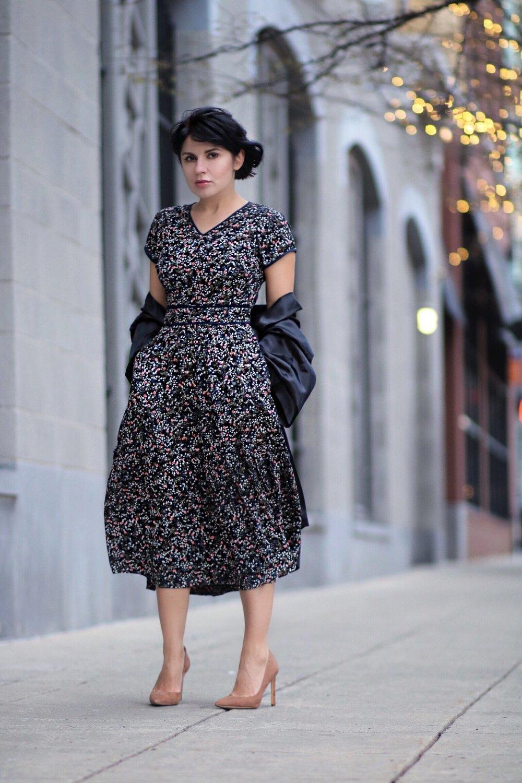 floral dress fashion blogger
