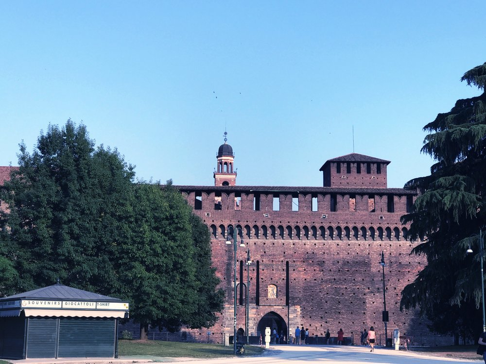 Sforza-castle-front-view