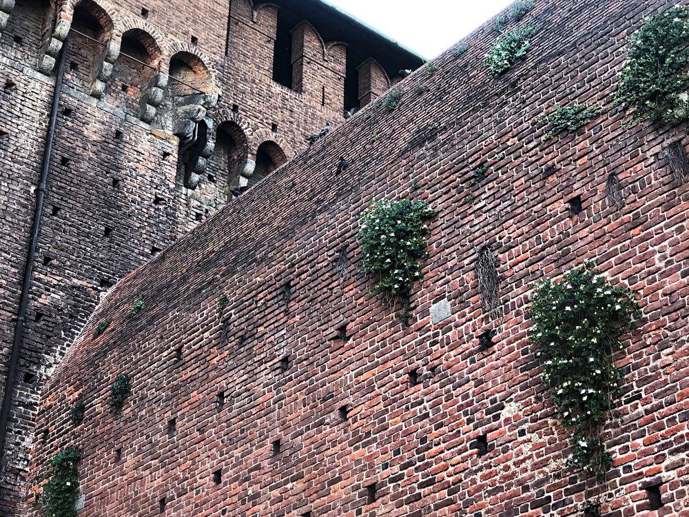 Sforza-castle-milan-wall