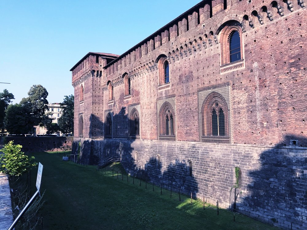 Sforza-castle-milan-outer-wall