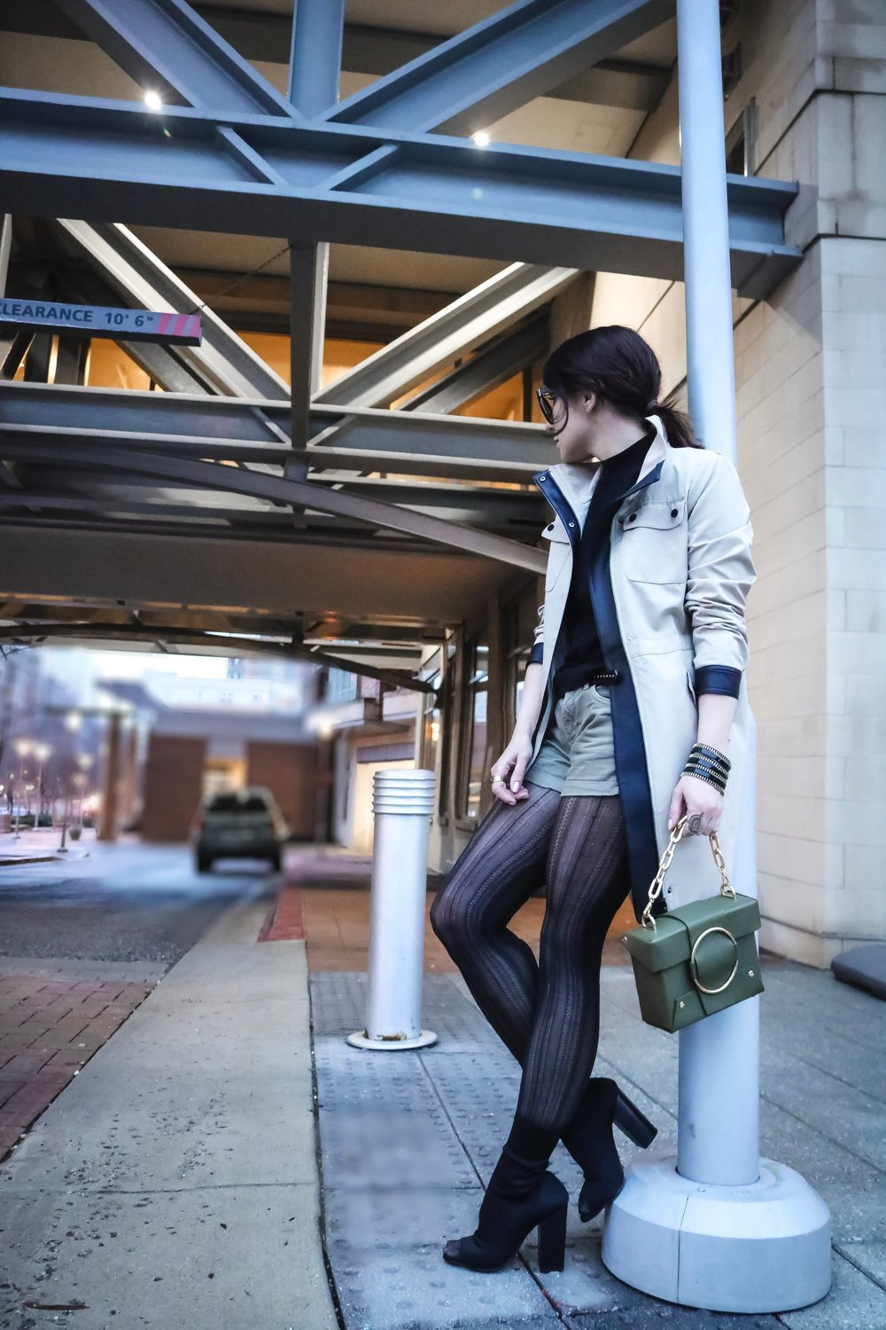 Isabel-Alexander-spring-trench-coat-shorts-street-style
