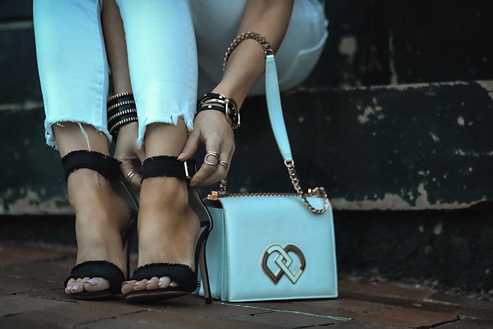 Isabel-Alexander-dsquared2-bag-Tony-Bianco-heels-close-up