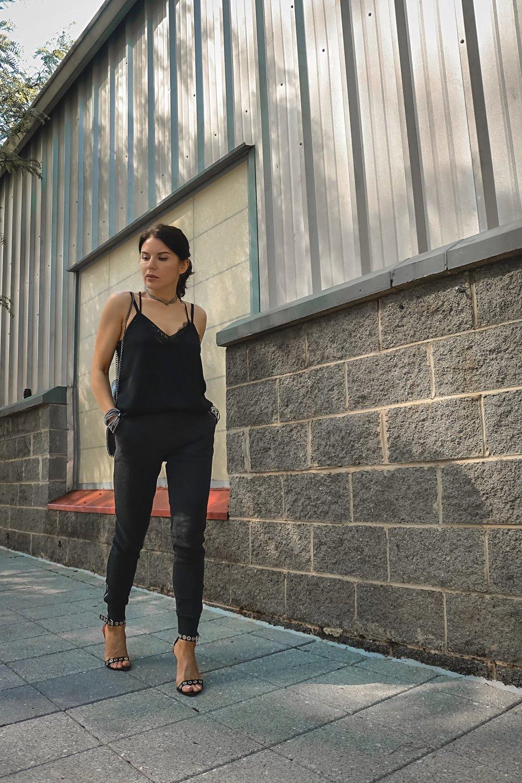 Express Cami Aerie Joggers Proenza Schouler Heels Street Style Isabel Alexander