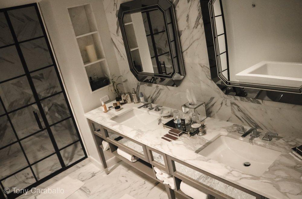 Ritz carlton Master bathroom marble countertops