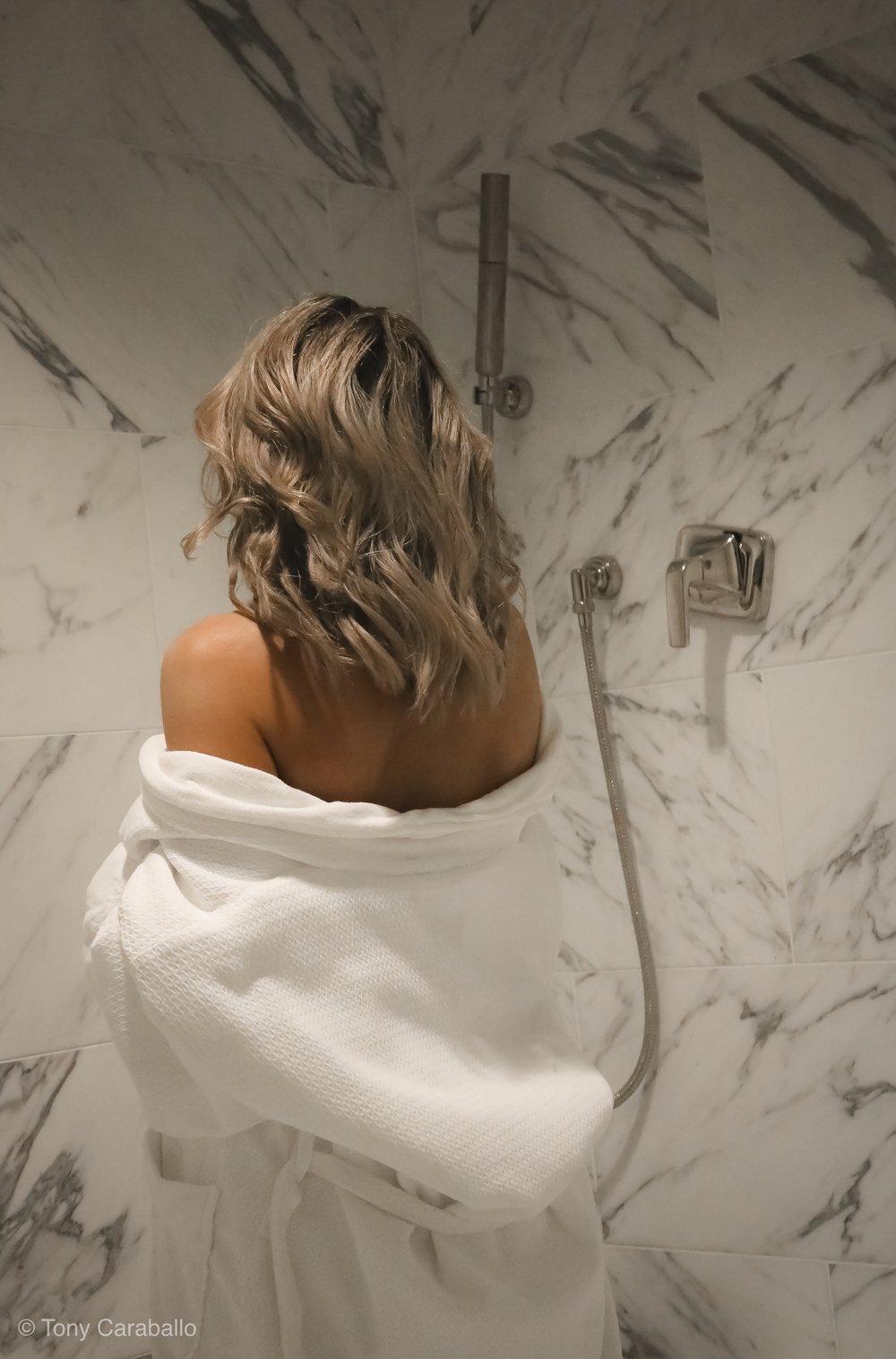 Ritz Carlton Presidential Suite Isabel Alexander showering