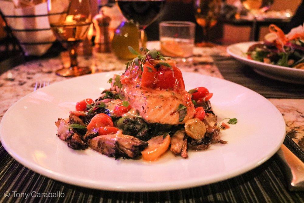 Ritz Carlton Entyse salmon dish