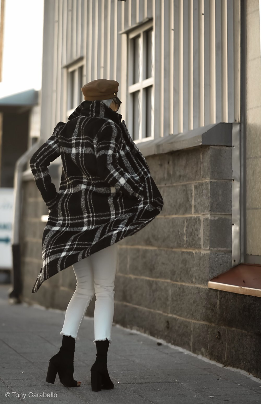 Isabel Alexander About US plaid coat back