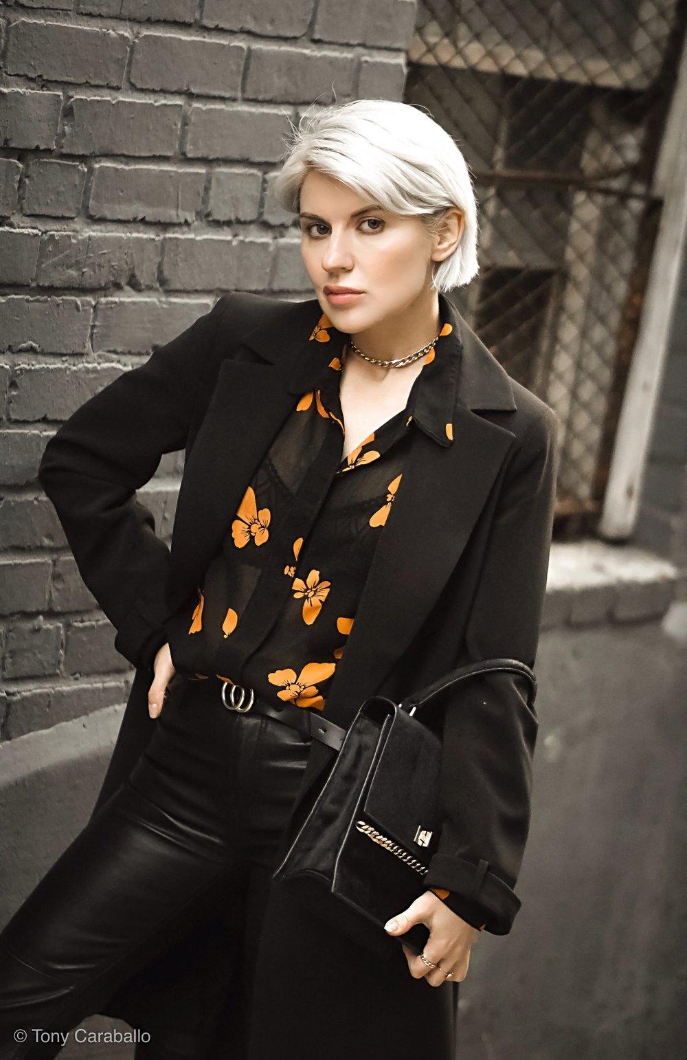 Isabel Alexander Ganni floral shirt