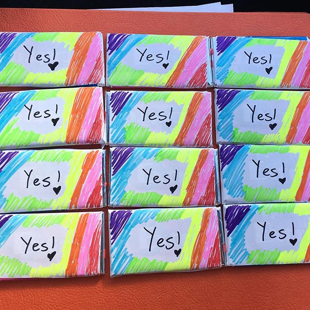 Car craft is hard but we are well on our way to Burning Seed already and I'm hoping everyone likes these gum gifts I've made! 💜💙💚💛❤️💗 #voteyes